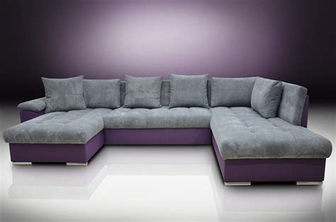 purple and grey sofa eric left hand facing corner group sofa bed cord fabric