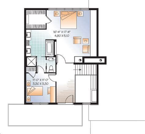 second floor plan modern house plan with 2nd floor terace 21679dr 2nd