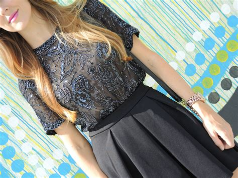 F21 Pleat Blouse vintage beaded blouse box pleat skirt in wynwood 187 shikshin