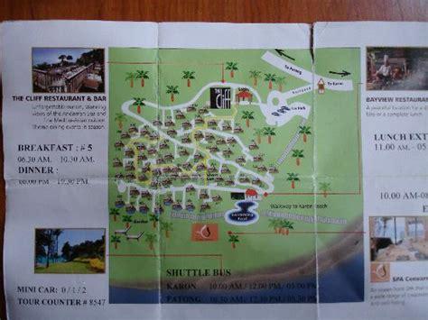 karon resort map centara villas site map picture of centara villas phuket