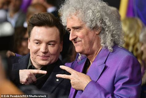 brian may cameo rami malek gets support from queen guitarist brian may at