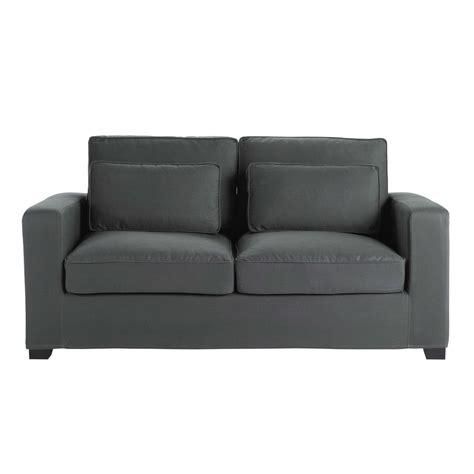 divano materasso maison du monde divano trasformabile grigio ardesia in cotone 2 3 posti