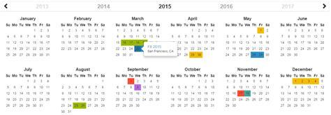Calendar Js Bootstrap Year Calendar Jquery Cards