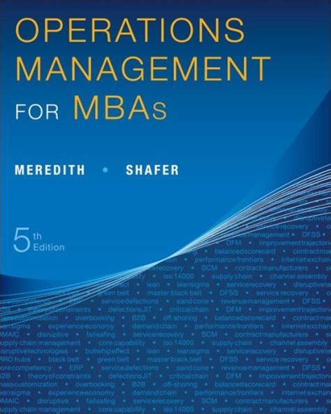 Mba Operations Management by Bequkyfemo S