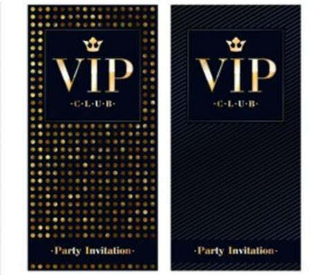 free vip card template invitation vip template image collections invitation
