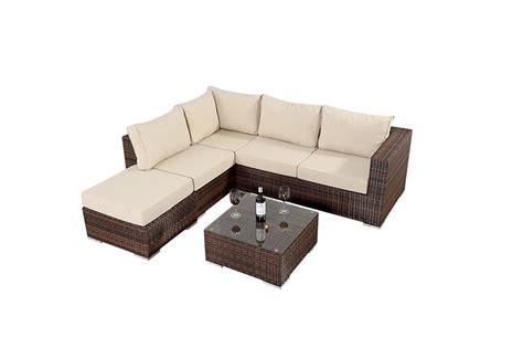 four seater corner sofa prestige four seater rattan corner sofa set in brown 163 599 99
