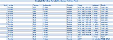 To Marathon In 6 Months by Half Marathon Plan Run Selfie Repeat