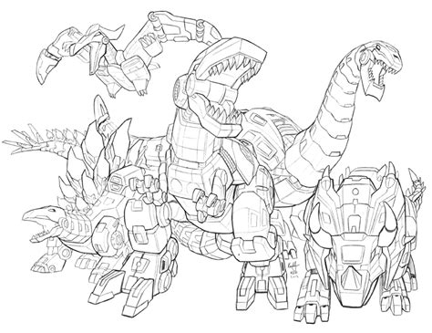 dinosaur transformers coloring page green transformer dinosaur coloring coloring pages