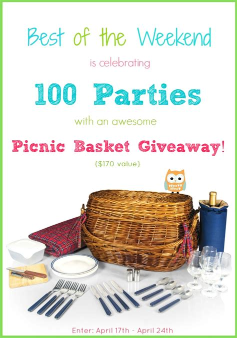 Picnic Basket Giveaway - best of the weekend 100 with giveaway cooking with curls