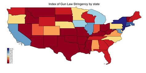 Illegal Background Check Laws Gun Traffickers Exploit Differences In State Laws Map Of States By Gun Stringency