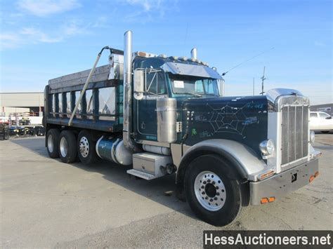 used 1998 peterbilt 379 tri axle aluminum dump truck for sale in pa 27550