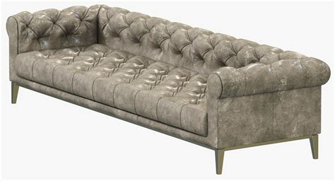 Chesterfield Sofa Restoration Restoration Hardware Italia Chesterfield L 3d Model Max Cgtrader