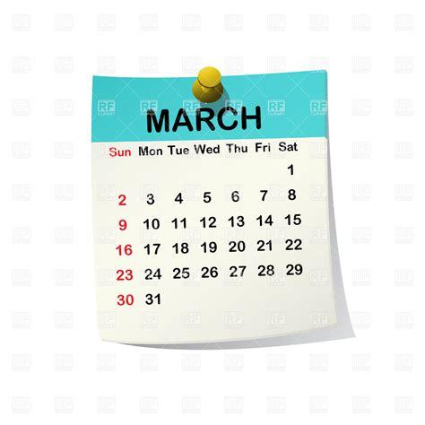 Calendar Clip March 2014 Month Calendar Vector Image 20535 Rfclipart