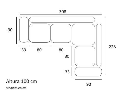 sofas en l sof 225 con m 243 dulo rinc 243 n y brazo arc 243 n con puff incorporado