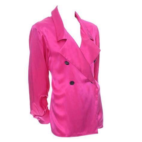yves laurent pink silk vintage blouse ysl rive