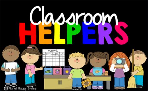 one helpers planet happy smiles students classroom helpers