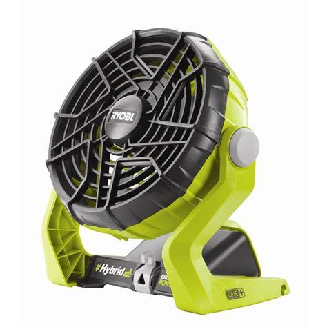 ryobi fan and battery ryobi one 18v hybrid portable fan skin only bunnings