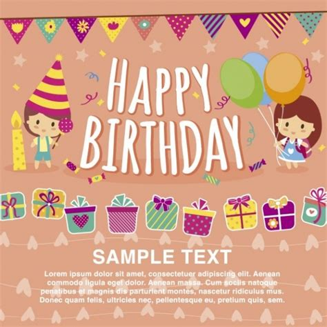 21 Kids Birthday Invitations Psd Vector Eps Jpg Download Freecreatives Birthday Card Template