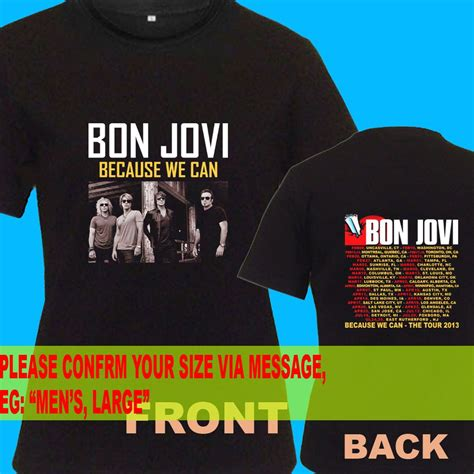 a05 bon jovi because we can tour date 2013 t shirt size s m l xl 2xl