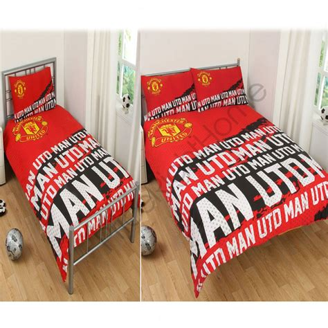 Manchester United Bedding Set Manchester United Fc Impact Duvet Cover Sets Single Available Official Ebay
