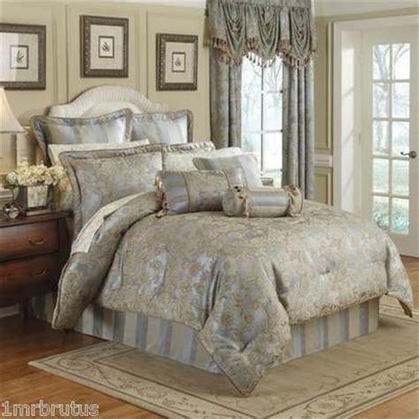 french blue bedding 9pc croscill nicolette king comforter set euro shams