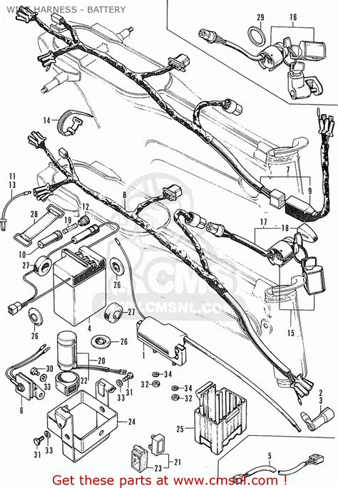 honda st70 dax wire harness battery schematic