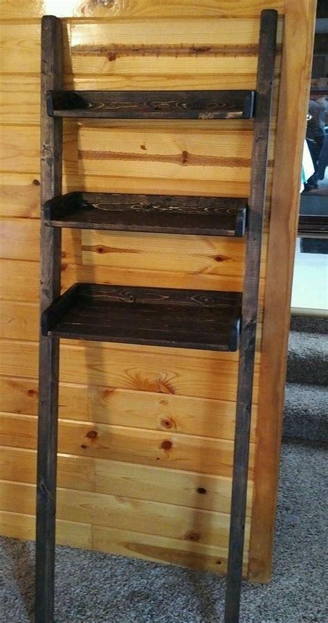 leaning bathroom shelf custom made leaning ladder shelf in dark walnut leaning