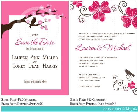 beautiful wedding invitation templates ipunya