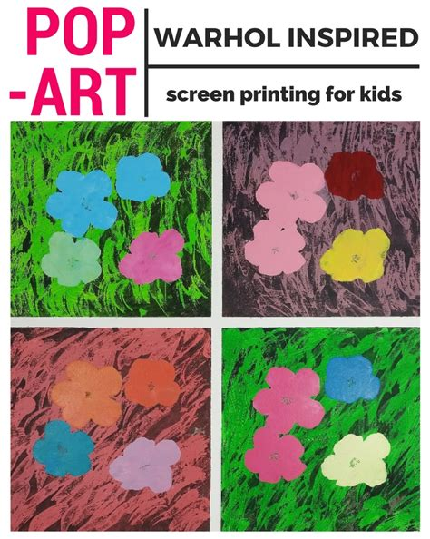 pop for toddlers pop for andy warhol inspired screen printing