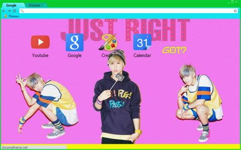 theme google chrome got7 just right mark got7 just right chrome theme themebeta