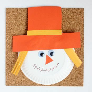 Paper Plate Scarecrow Craft - coffee cups and crayons