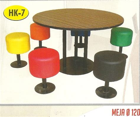 Meja Makan Resto Cafe Meja Hpl 80 Kaki Powder Coating Meja Foodcourt compass furniture and interior design restaurant set meja dan kursi makan set meja dan
