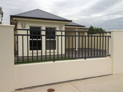 outdoor design simple modern home with black iron fence