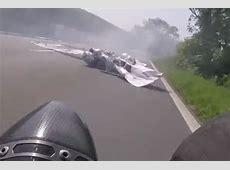 Biker has incredible near-miss after Isle of Man TT crash ... 2016 Isle Of Man Crashes