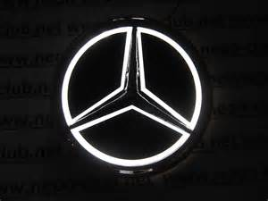 Logo Mercedes 5d Mercedes White Neon Logo