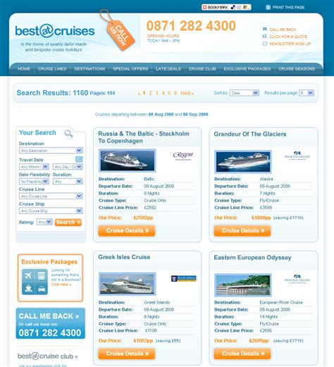 search design results page design images