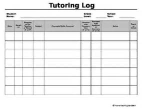 Tutoring Log Editable By Thomas Teaching Tools Tpt Tutoring Report Template