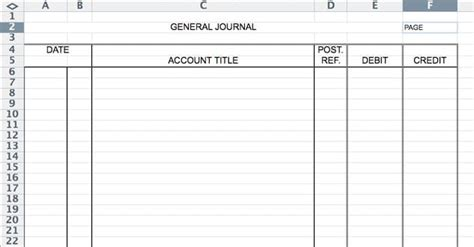 Entry Journal Template For Word by 5 General Journal Templates Formats Exles In Word Excel