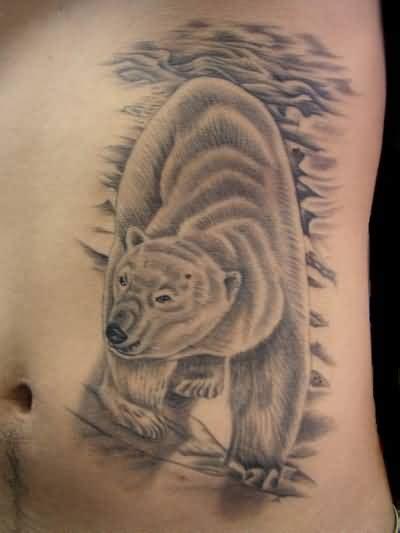 simple bear tattoo art