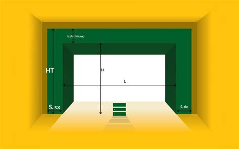 larghezza porta garage personalizza il tuo portone sezionale nelle misure e finiture