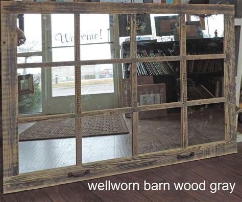 Window Pane Wall Decor by Barn Wood 12 Pane Window Mirror Rustic Mantel Or Wall
