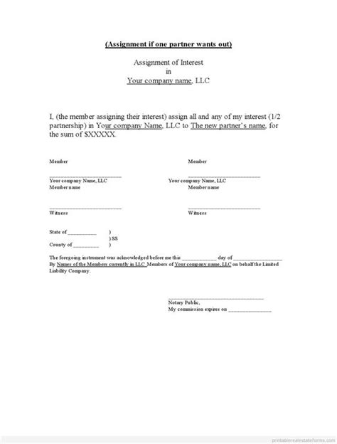 Release Of Interest Letter Free Free Printable On