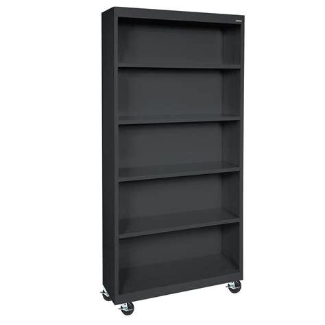 Sandusky Black Mobile Steel Bookcase Bm40361872 09 The Movable Bookshelves
