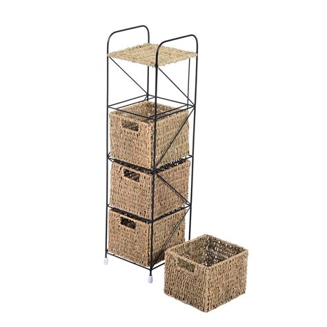 storage cabinet with baskets storage baskets for shelves stackable bins storage basket