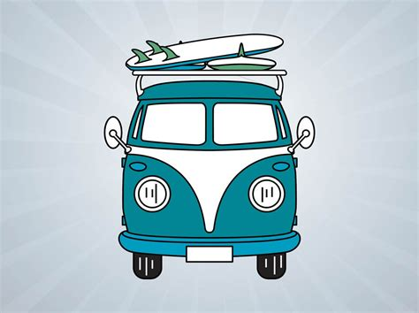 volkswagen bus art volkswagen bus vector vector art graphics freevector com
