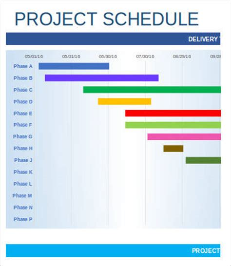 project schedule template project schedule template 9 free sle exle
