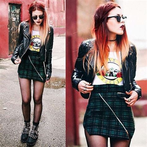 edgy urban cool hair on pinterest 86 pins luanna perez edgy rock outfit sunglasses leather jacket