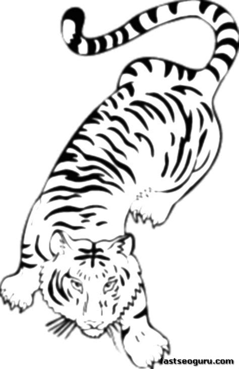 coloring page bengal tiger printable jungle bengal tiger coloring pages for kids