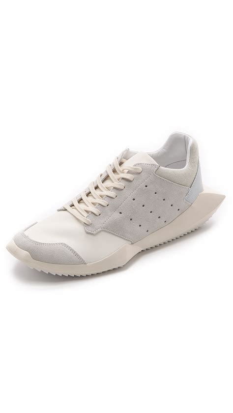 white rick owens sneakers rick owens tech runner sneakers in white for lyst