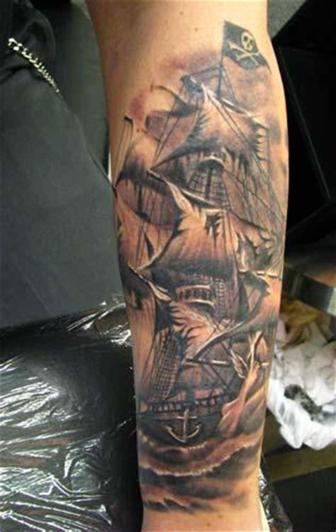 ship tattoo black and grey 60 latest pirate tattoos ideas